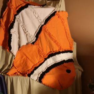 Other - Handmade Fleece Clown Fish Throw Blanket